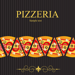 Pizza Illustrator 04 Vector