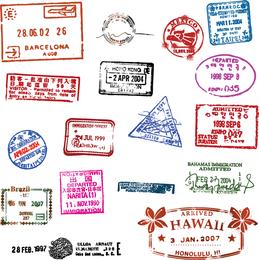 Passport Stamp Seal 01 Vector