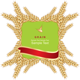 Wheat And Label 01 Vector
