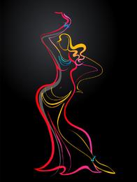 Cor dança 03 vector