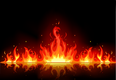 Beautiful Flame Vector Clip 03