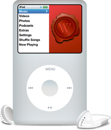Design de modelo de maquete do iPod nano