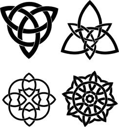 Conjunto de vectores de nudos celtas