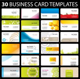 30 De Vetor De Modelo De Cartão Prático