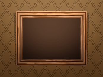 Classic Wood Frame 04 Vector