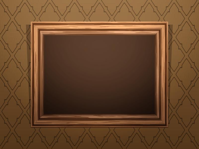 Vectores y gráficos de marco de madera