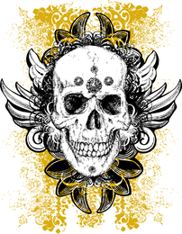 Wicked Vector Skull Illustration