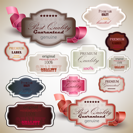 The Exquisite Label Design 04 Vector