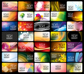 Variedad de plantilla de tarjeta de visita 04 Vector