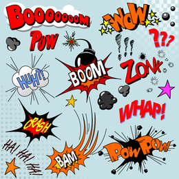 Comics Word Vector 3