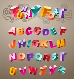 Vector tridimensional letras lindas