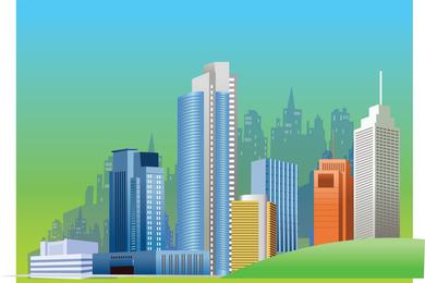 City Skyline gráficos vectoriales