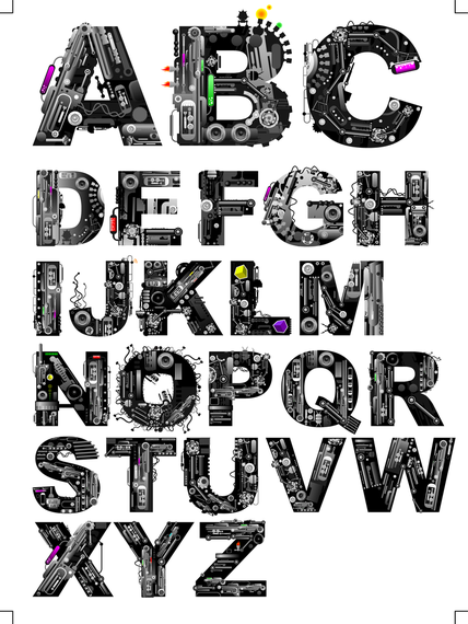 Font Design Series 37 Vector