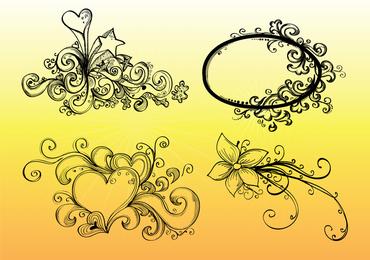 Dibujado a mano gráficos vectoriales