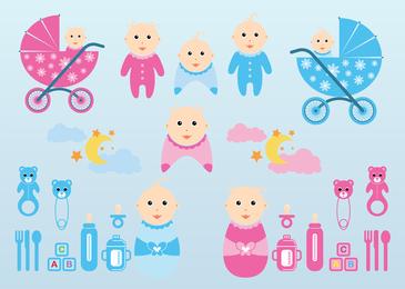 Gráficos de bebê de vetor