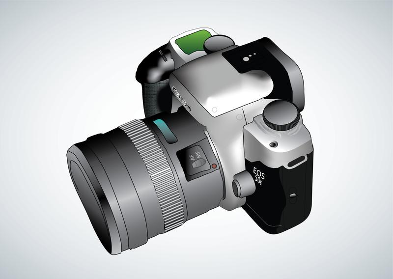 Vetor de câmera digital