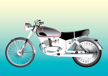 Isolated stylish motorbike