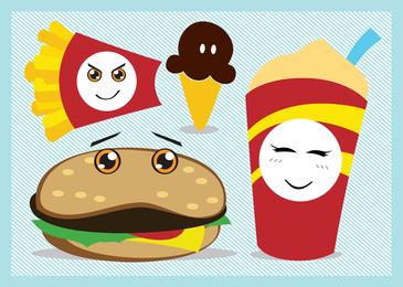 Vetor de fast food