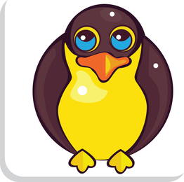 Isolated penguin illustration