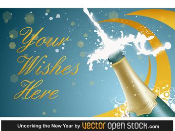 Año nuevo champagne