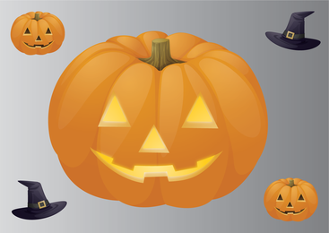 Big carved Halloween pumpkin