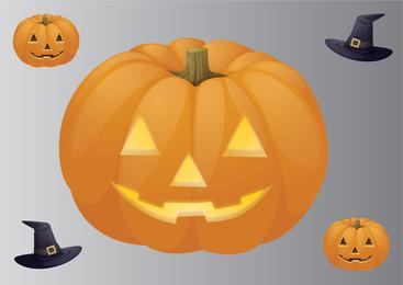 Calabaza tallada grande de halloween