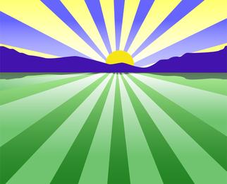 Vetor do sol
