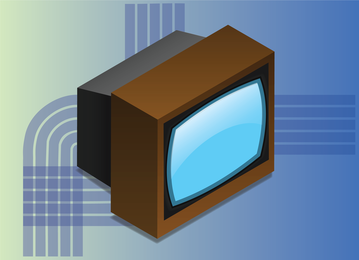 Vector de pantalla de tv