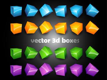3d Threedimensional Box Vector