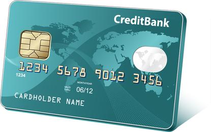 Vetor de cartão bancário de cartão de crédito