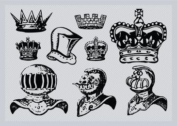 Cascos y coronas