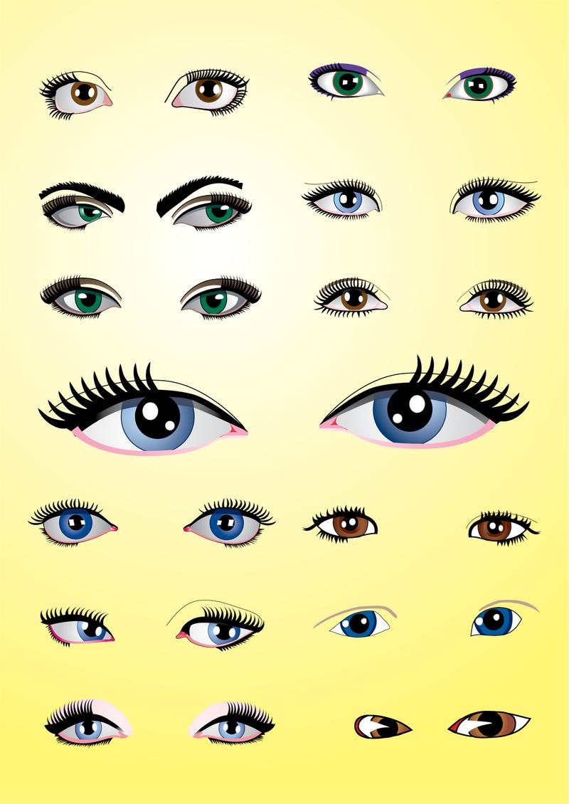 Ojos Paquete - Descargar vector