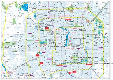 Mapa de la ciudad de Beijing Vector