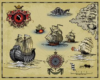 Alter Segelschiff-Vektor
