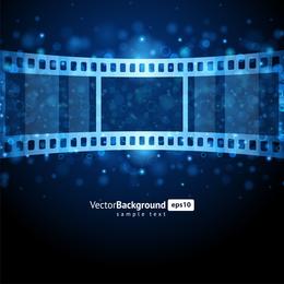Vector de negativos de película azul