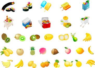 Dieta de frutas de vetor