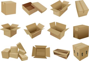 Cajas Y Cartones Vector