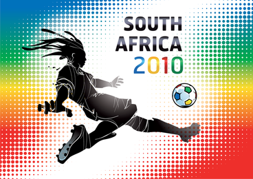 Copa del mundo Sudáfrica 2010 Wallpaper Vector Illustration