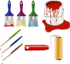 Paint elements set