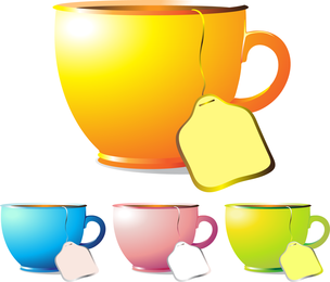 Cups And Coffee Mugs Vector
