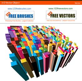 Colorful Threedimensional Column Vector