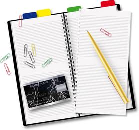 Open Notepad Vector 4