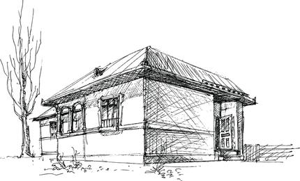 Casa Esboço Vector 1
