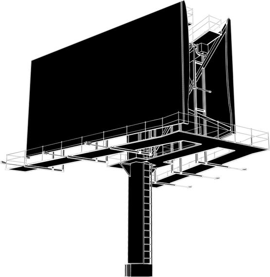 Large Outdoor Billboards Blank Vector