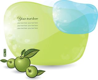 Azul y verde dialog 03 vector