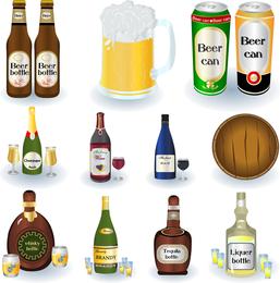 Vetor de série de cerveja