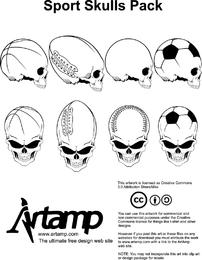 Crânio de crânio de elementos de movimento
