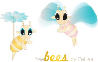 Kostenlose Bienen O Vektor Zeichen