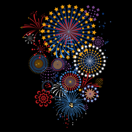 5 Dazzling Fireworks Vector