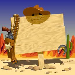 Vektor Cowboy Bulletin Board